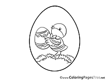 Image Chicken free Colouring Page Easter