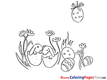 Little Bunnies download Easter Coloring Pages