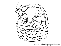 Little Bunnies Easter Coloring Pages download