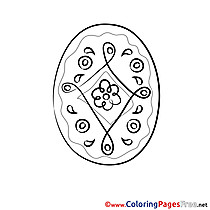 Ornament Kids Easter Coloring Pages