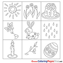 Ornament printable Coloring Pages Easter
