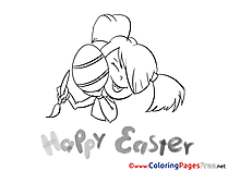 Painter Girl free Easter Coloring Sheets