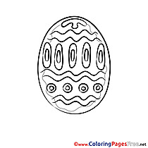 Passover free Colouring Page Easter