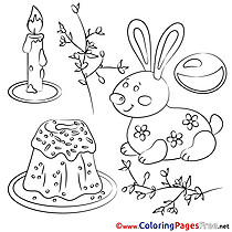 Pie Coloring Sheets Easter free