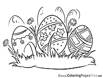 Postcard Easter Coloring Pages download