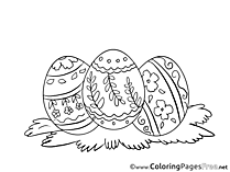 Postcard Eggs Easter free Coloring Pages