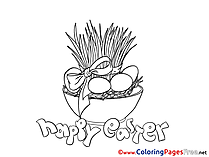 Pot with Herb Colouring Sheet download Easter
