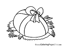 Present Egg Kids Easter Coloring Pages