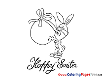 Present Kids Easter Coloring Page