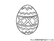 Printable Easter Egg Coloring Sheets