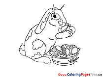 Printable Hare Coloring Pages Easter