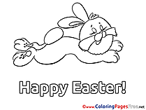 Rabbit printable Easter Coloring Sheets
