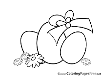 Ribbon Eggs Coloring Sheets Easter free