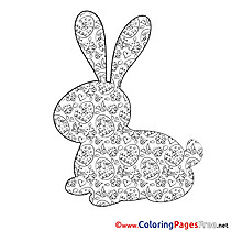 Silhouette Easter Coloring Pages download