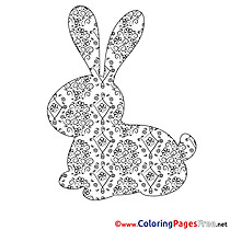 Silhouette for Kids Easter Colouring Page