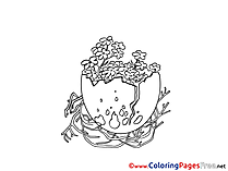 Sticks Egg Kids Easter Coloring Pages