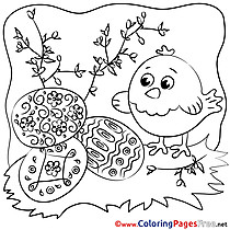 Willow Chicken Easter free Coloring Pages