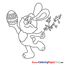 Willow Hare Easter Coloring Pages free