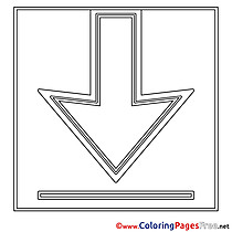 Arrow download Colouring Sheet free