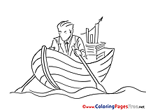 Boat printable Coloring Sheets download