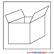Box free Colouring Page download