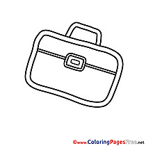 Briefcase Kids download Coloring Pages