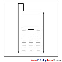 Cell Phone Children Coloring Pages free