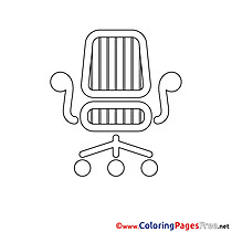 Chair download printable Coloring Pages