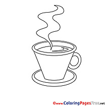 Coffee Coloring Sheets download free