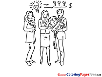 Colleagues Business Colouring Page printable free