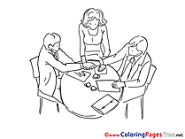 Cooperation download Colouring Sheet free