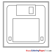 Floppy Disk for Children free Coloring Pages