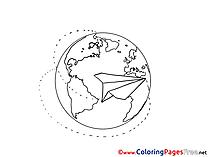 Globe Kids free Coloring Page