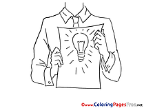 Idea for Business free printable Coloring Sheets
