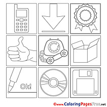 Images Office Colouring Page printable free