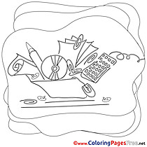 Kids free Work Coloring Page