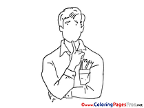 Man thinks printable Coloring Sheets download