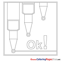 Markers for Kids printable Colouring Page
