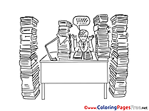 Office Books download printable Coloring Pages