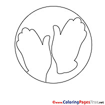 Palms Children download Colouring Page