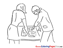 Plan Engineer Kids free Coloring Page