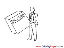 Plan Man Colouring Page printable free