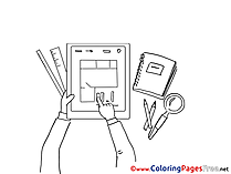 Plan Work Colouring Sheet download free