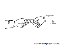 Puzzle Children download Colouring Page