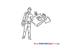 Reporter Coloring Pages for free