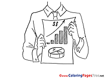 Sales Business Colouring Page printable free