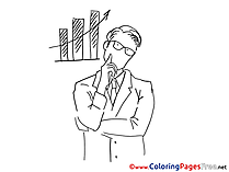 Sales Man for free Coloring Pages download