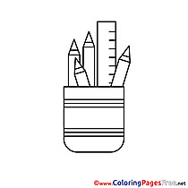 Stationery Kids free Coloring Page