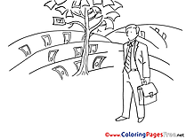 Tree Money printable Coloring Pages for free