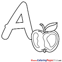 Alphabet coloring pages English